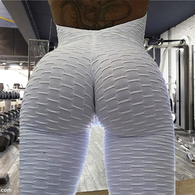 Womens Sport Yoga Jumpsuit Ruched Butt Lifting Elastic Fitness Tights Running Tight Sports Sets