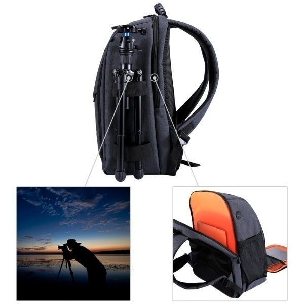 Outdoor Backpack Portable Waterproof Bag Scratch-proof Dual Shoulders Backpack for DSLR Camera, Sports Camera, Tripod and Other Photography Accessories
