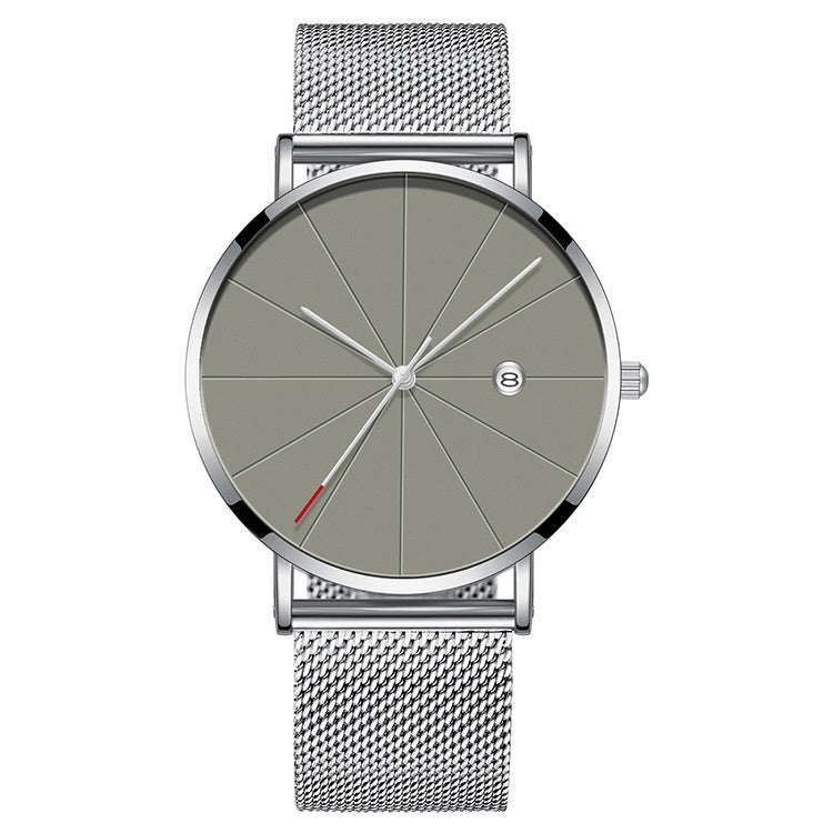 2020 Mens Business Watches Luxury Ultra Thin Stainless Steel Mesh Band Analog Quartz Watch