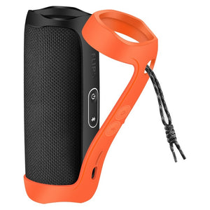 Silicone Case for JBL Flip 5 Bluetooth Speaker Travel Carry Pouch Sleeve Durable Silicone Extra Carabiner