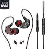In-Ear Earbud Headphones, Noise Isolating Heavy Bass Stereo Sport Earphones Fone De Ouvido Audifonos Ecouteur with Microphone for iPhone iPod iPad, Samsung Android Mobile Phones Tablets, Computer, Laptop, Mp3 Mp4 Player