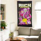 70x125/80x140cm American Cartoon Movie Tapestry Silk Poster Wall Hanging Home Decor