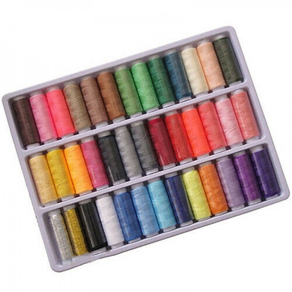 39x Mixed Colors Polyester Spool Sewing Thread For Machine Set Shop