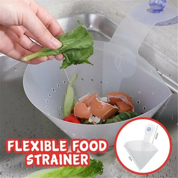 Self-standing Collapsible Funnel Anti-blocking Storage Basket Garbage Drainer Food Strainer Drain Filter Sink Filter