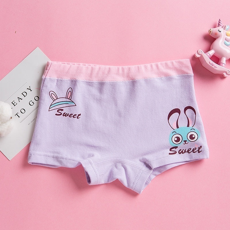 Little Girls' Soft Cotton Underwear for 5-12 Years Kids Girl(1/2/4/5/10pcs Assorted )  Breathable Comfort Experience Panty 751
