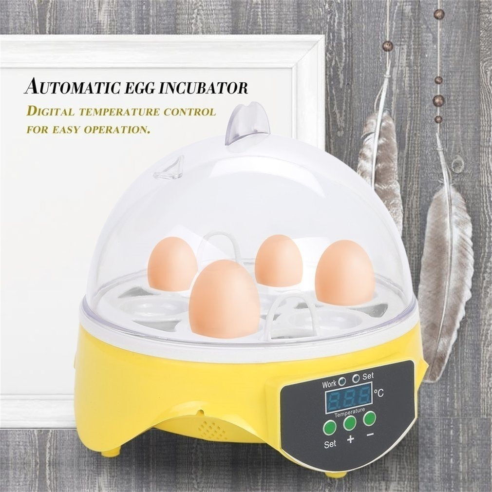 7 Eggs Capacity Chicken Eggs Bird Incubator Automatic Control Incubation Tool EU Plug