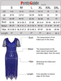 S-XXL Women's 1920s Dress Sequin Art Deco Flapper Dress with Sleeve