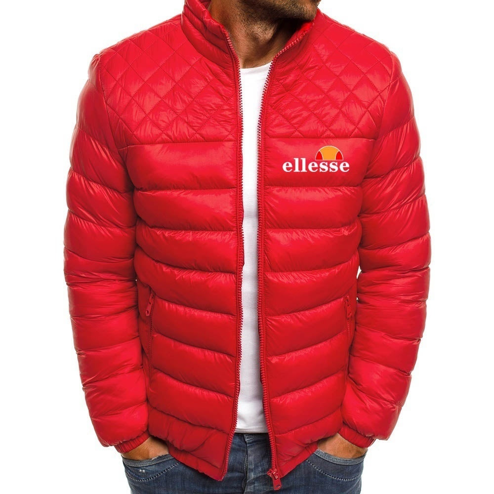 Mens quilted jacket transition jacket windbreaker casual sports winter fashion printed cotton jacket