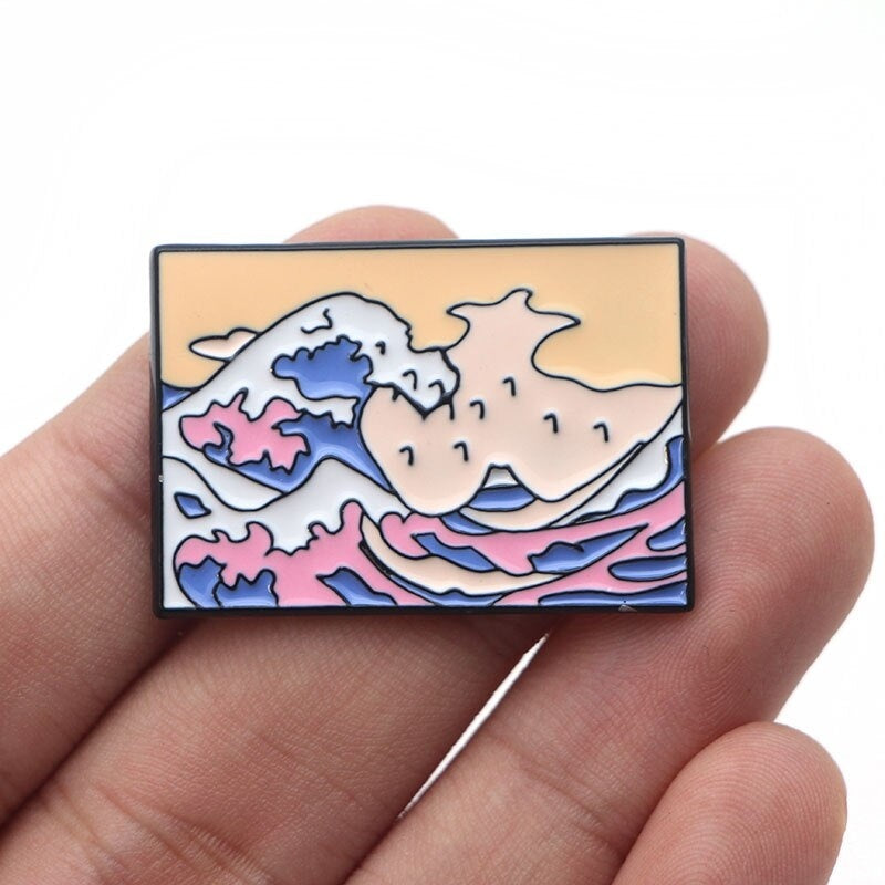 1 Pcs Van Gogh Art Brooch Sunflower Metal Enamel Pins For Women Men Backpack Pins Personality Badge Jewelry Gifts M4138