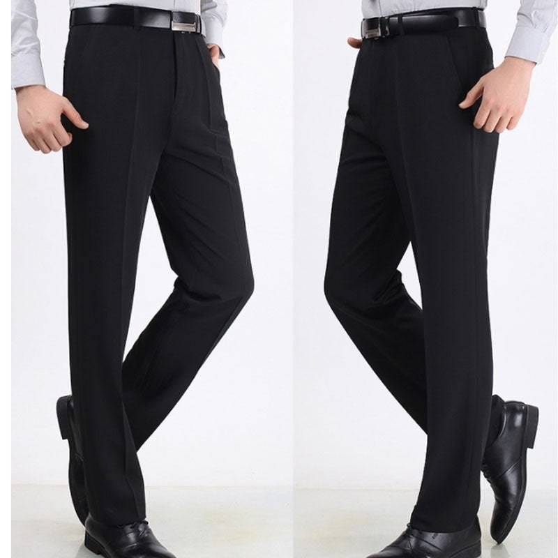 Autumn Thin Mens Pants Casual Suit Trousers Solid Male Pants Man Dress Pants Formal