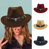 Winter Men & Women's Woven Cowboy Hat Classic Cattleman Outdoor Hat