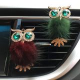 1 PC Diamond Fur Owl Car Air Freshener Auto Outlet Perfume Clip Scent Aroma Car Diffuser Bling Car Accessories Interior Decor Gifts