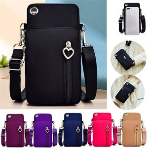 Fashion Women Sports Square Bag Mini Cellphone Pouch Crossbody Coin Purse (with Earphone Hole)