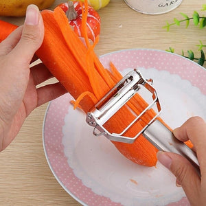 Stainless Steel Potato Cucumber Carrot Grater Julienne Peeler Vegetables Fruit Peeler Double Planing Grater Kitchen Gadget High Quality