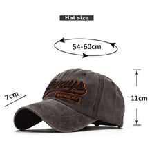 Load image into Gallery viewer, Fashion outdoor sport Unisex Cotton 3D embroidered Snapback Hats baseball cap on Size Adjustable Suitable for basketball,baseball,tennis,Skateboards,cycling,motorcycle,fishing,Hip Hop,travel,work,Gift