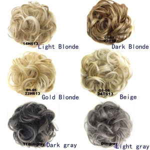 Curly Claw Clip Catching Extensions Blond Hairpiece Wig Wigs