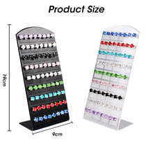Load image into Gallery viewer, Fashion 36 Pairs of Stud Ear Plate Display Rack L-shaped Hair Clip Ear Nail Board Jewelry Display Rack Jewelry Organizer Useful Showcase for Women