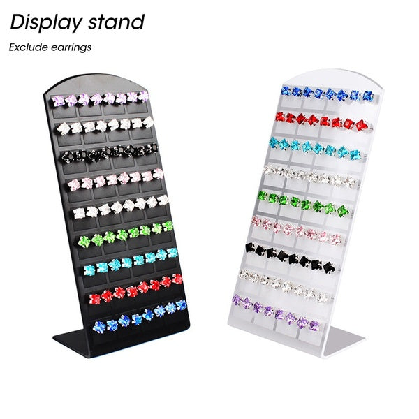 Fashion 36 Pairs of Stud Ear Plate Display Rack L-shaped Hair Clip Ear Nail Board Jewelry Display Rack Jewelry Organizer Useful Showcase for Women