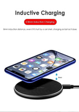Load image into Gallery viewer, Qi Wireless Charger Pad 10W Fast Charging Dock for iPhone SAMSUNG HUAWEI XIAOMI Motorola LG GOOGLE