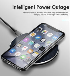 Qi Wireless Charger Pad 10W Fast Charging Dock for iPhone SAMSUNG HUAWEI XIAOMI Motorola LG GOOGLE