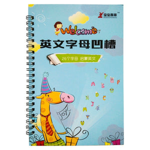 26 English letters Chinese Calligraphy copybook for Kid Children kindergarten Exercises Calligraphy Practice Book