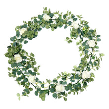 Load image into Gallery viewer, 2 Colors Artificial Eucalyptus Garland Hanging Rattan Wedding Greenery Home Decor Table Centerpieces Party Decorations Hotel or Cafe Decor