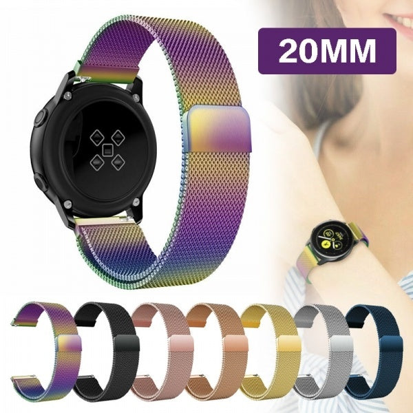 Luxury  Milanese Stainless Steel Magnetic Strap Band For Samsung Galaxy Watch Active 2