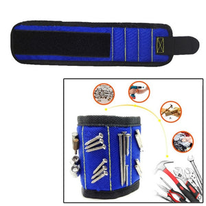Multifunction Wristband Toolkit Belt with Strong Magnets for Holding Screws, Nails, Drill Bits Perfect for Auto Repair Carpenter Wrist Bracelet