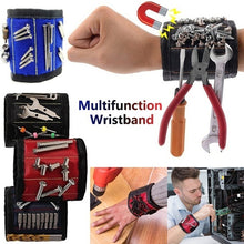 Load image into Gallery viewer, Multifunction Wristband Toolkit Belt with Strong Magnets for Holding Screws, Nails, Drill Bits Perfect for Auto Repair Carpenter Wrist Bracelet