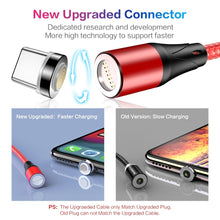 Load image into Gallery viewer, FLOVEME 3 IN 1 Magnetic Cable Micro USB Type C For iPhone Samsung 1M 3A Fast Charging Wire Magnet Charger Adapter Phone Cables