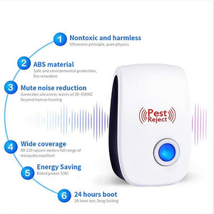 Electronic Ultrasonic Pest Reject Repeller Insect Repellent Pest Control Mosquito Mouse Cockroach Insect Killer