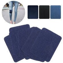 Load image into Gallery viewer, 5/25 pcs Sleeve Against Jeans Patch Iron On Patches with Self Adhesive Repair Elbow Knee Denim Patches For Clothes Denim Stickers Clothing Accessories