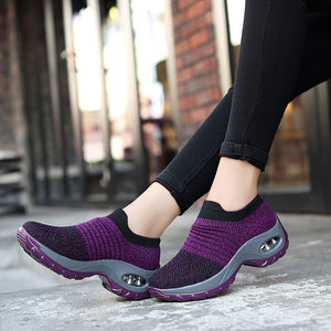 Women's Wedges Air Cushion Platform Sports Shoes Non-slip Breathable Running Shoes