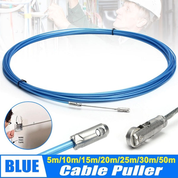 Electrician Tape Conduit Ducting Cable Puller Tools Wheel Pushing for Wiring Installation