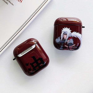 Anime Naruto Sasuke Itachi Pain Print Protective Glossy Case For Airpods Case Cover Wireless Bluetooth Headset Case Headphone Case(Without Headphone )
