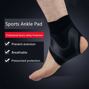 1PC Adjustable Elastic Ankle Brace Support Bandage Sports Running Foot Protection Bandage Breathable Lightweight Compression Anti Sprain