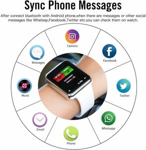 NEW Waterproof Smart Watch Bluetooth GSM Sim Phone Pedometer Sedentary Remind Sleep Monitor Remote Camera For Android/iOS