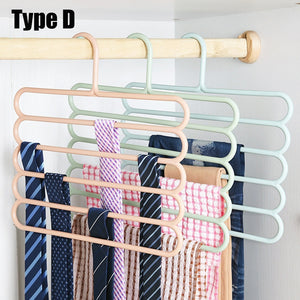 Multifunction 5 Type Stainless Steel Pants Trousers Hanger Clothes Rack Closet Holder Organizer