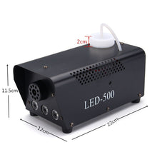 Load image into Gallery viewer, 500W 0.5L RGB LED Wireless White Mist Maker Smoke Fogger Fog Dj Disco Laser Light Club Christmas Wedding Party Pub Stage Effect Smoke Machine with Remote Controlle
