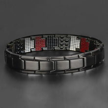 Load image into Gallery viewer, Fashion accessories 4 IN 1 Mens Health Energy Bracelet Bangle for Arthritis,with 4 Functions Far Infrared Ray, Germanium Powder, Neodymium Magnet, Stainless Steel 316L