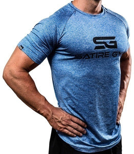Slim Fit Men's Functional Sportswear Exercise Workout Fitness Print Gym Summer T-Shirt