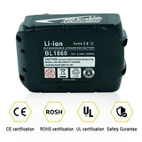 3Ah-9Ah Lithium ion Rechargeable Replacement for Makita 18V Battery BL1850 BL1830 BL1860 LXT400 Cordless Drills