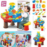 Sand and Water Table Sandpit Indoor/Outdoor Beach Kids Children Play Toy Set