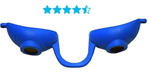 Super Sunnies Flexible Tanning Bed Goggles Eye Protection UV Glasses (Blue)