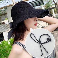 Load image into Gallery viewer, Sun Hats for Women Visors Hat Fishing Fisher Beach Hat UV Protection Cap Black Casual Womens Summer Caps Ponytail Wide Brim Hat