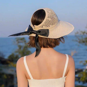 Sun Hats for Women Visors Hat Fishing Fisher Beach Hat UV Protection Cap Black Casual Womens Summer Caps Ponytail Wide Brim Hat
