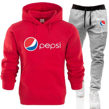 Load image into Gallery viewer, Pepsi-Cola Hoodie Set Men's Fashion Printed Casual  Hoodie + Pants Set  Sport Suit Jogging Suit