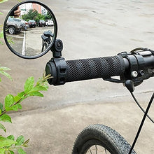 Load image into Gallery viewer, Adjustable  Bicycle Rearview Handlebar Mirrors Cycling Rear View Mountain Bike Silicone Handle Round Rearview Mirror