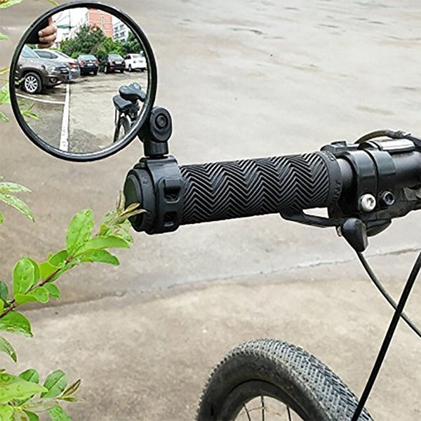 Adjustable  Bicycle Rearview Handlebar Mirrors Cycling Rear View Mountain Bike Silicone Handle Round Rearview Mirror