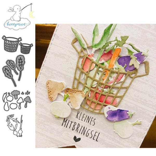 CH A basket of vegetables Metal Cutting Dies 3D DIY Scrapbooking Carbon Sharp Craft Die Photo Invitation Cards Decoration